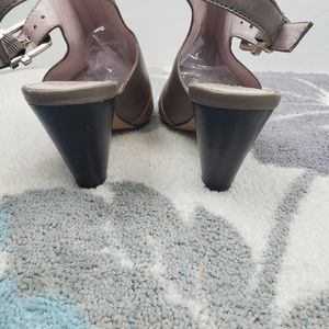 Vince Camuto Shoes - Vince Camuto Erro Leather Peep toe slingback heels